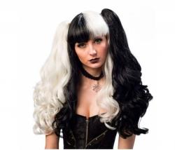 Harlequin Perücke schwarz-weiss