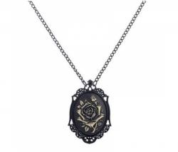 Halskette mit Rose