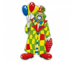 Dekomaske Clown Luftballon