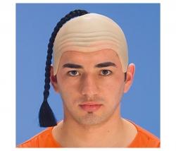 Glatze mit Zopf