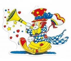 Dekomaske Clown Tröte
