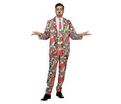 Pop Art Anzug Gr. 50