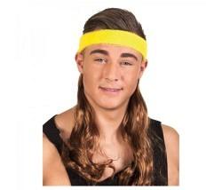 Stirnband mit Haaren braun